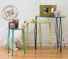 Versatile & colorful at - Painted Coastal oblong tables from Home & Garden - Check out the Coastal industrial shevling on casters, too, Jan. Coastal Curtains, Coastal Rugs, Coastal Bedding, Rustic Curtains, Coastal Style, Coastal Decor, Bedroom Curtains, Modern Coastal, Coastal Nursery