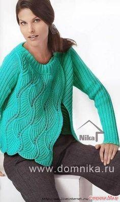 Нашла на просторах интернета. Очень понравился рисунок. Хочу попробовать связать таким рисунком пуловер. Делюсь с Вами, страномамочки, вдруг кому-то еще понравится. Размеры: 34/38 - 40/42.