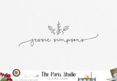 Hand Drawn Floral Minimalist Logo Design - restaurant logo, photography logo, website logo, boutique logo, creative business branding or small…