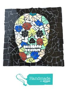 "Mosaic Skull Wall Art, Stained Glass, 7.5"" by 7.5"" Día de Muertos, Day of the Dead Inspired Wall Art from Great Escape Mosaics https://www.amazon.com/dp/B01GK5TZTA/ref=hnd_sw_r_pi_dp_g8Buxb57VCP8Z #handmadeatamazon"