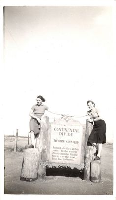 Vintage Photo ~  pretty Continental Divide girls ~  Western Americana Photograph
