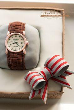 Tarta en forma de reloj para el día del padre