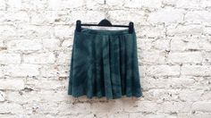 90s Grunge Skater Skirt Tie Dye Mini Skirt Green to fit UK Size 14 or US size 10