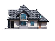 DOM.PL™ - Projekt domu DM Śnieżka K CE - DOM GM2-59 - gotowy koszt budowy Civil Construction, Home Fashion, House Plans, Floor Plans, House Design, Cabin, Flooring, How To Plan, House Styles