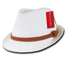 1 Dozen Decky Natural Paper Braid Woven Fedoras Trilby Panama Hats Wholesale Lot