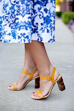 Blue and White Midi Skirt   Dallas Wardrobe