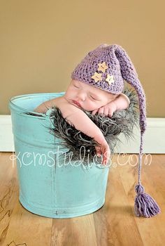 Super sweet Long Tail Hat Crochet Baby Elf Hat Newborn by mokumba, £15.00