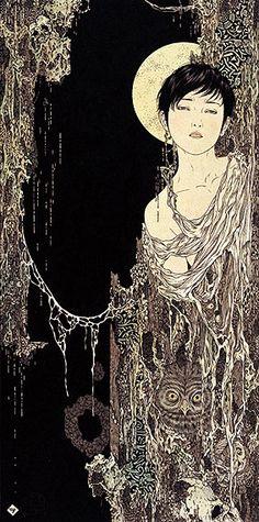 「夜の帷」 2003年   Curtain of Night    - Takato Yamamoto