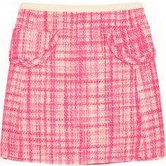 Marc Jacobs Wool-blend tweed mini skirt ($240) ❤ liked on Polyvore featuring skirts, mini skirts, bottoms, pink, marc jacobs, pink mini skirt, tweed mini skirt, mini skirt and short tweed skirt