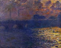 Claude Monet Waterloo Bridge, Sunlight Effect oil painting reproductions for sale