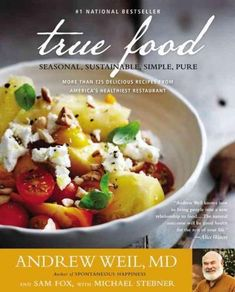 """My favorite restaurant has a cookbook? """"True Food: Seasonal, Sustainable, Simple, Pure"""" by Andrew Weil, Sam Fox and Michael Stebner Tuscan Kale Salad Recipe, Kale Salad Recipes, Curried Cauliflower Soup, Cauliflower Recipes, Crockpot Recipes, Healthy Recipes, Delicious Recipes, Veggie Recipes, Healthy Foods"""