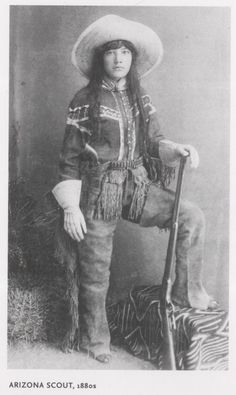 Cowgirl from the old west-- Many cowgirls and cowboys were Native peoples