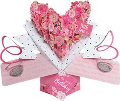Roses Heart Birthday Pop-Up Greeting Card Pop Up Greeting Cards, Pop Up Cards, Nature 3d, Order Confirmation Email, Paper Engineering, 3d Cards, Bubble Envelopes, Card Sizes, Birthdays