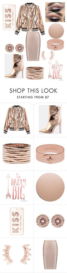 """National Rose Gold Day😀"" by ipekzsuel on Polyvore featuring Sans Souci, Repossi, Mulberry, House Doctor, Kate Spade, Ted Baker and Hervé Léger"