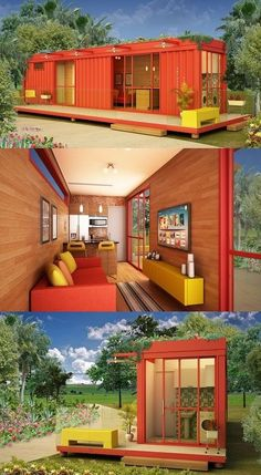 Shipping Container Homes that Promote Green Living Shipping Container Home Designs, Shipping Container House Plans, Container Design, Building A Container Home, Container Buildings, Container Architecture, Tiny House Cabin, Tiny House Living, Tiny House Design