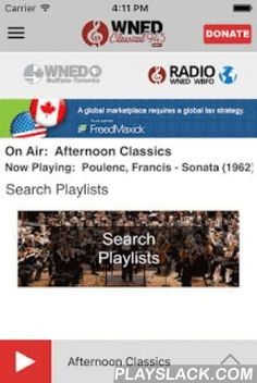 WNED Classical 94.5  Android App - playslack.com ,  If you love classical music, then get this App! WNED Classical 94.5 App: The WNED Classical 94.5 App allows you to listen to WNED, pause and rewind the live audio, and view the program schedule all at once! You can explore On Demand content, search for programs, bookmark a program for later, and wake up to WNED with the alarm clock! Live Streaming • DVR-like controls (pause, rewind, and fast forward). You can pause the live stream to have a…