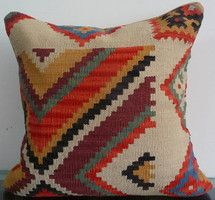 Kilim Decorative Pillow Cushion Cover by Rug Factory on Luvocracy ~ $44.99