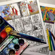 PDF - Color Your Own Tarot Deck - Major Arcana - Rider Waite