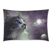 InterestPrint Universe Nebula Galaxy Outer Space Cat Pillowcase Standard Size 20 x 30 Inches One Side - Funny Cat Blue Eyes in Earth Planet Globe Solar System Pillow Cases Cover Shams Decorative Space Tapestry, Tapestry Wall Hanging, Wall Hangings, Cat Pillow, Space Cat, Blue Cats, Love Symbols, Dorm Decorations, Outer Space
