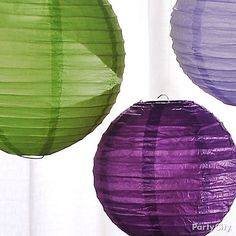 Wedding Reception Decorating Ideas in Romantic Purple, Lavender and Green
