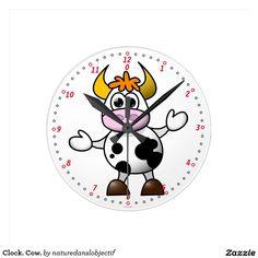 Clock. Cow.