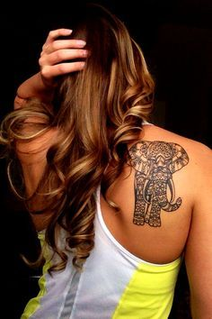 I drew an elephant similar to this one and I think that's what inspires me to get an elephant tattoo