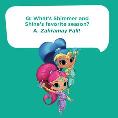 Here's a silly genie joke for kids: What's Shimmer and Shine's favorite season? Corny Jokes, Funny Puns, Jokes For Kids, Kid Jokes, Jokes Quotes, Funny Quotes, Nella The Princess Knight, Clean Jokes, Nick Jr