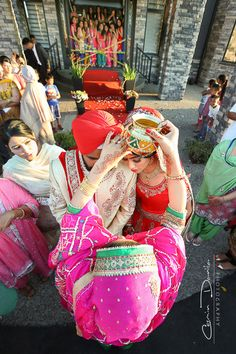 overhead Indian Sikh Wedding shot