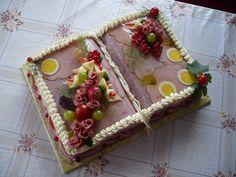 Aspiková kniha , Slané dorty | Dorty od mamy Sandwich Cake, Sandwiches, Brunch Buffet, Salty Cake, Food Humor, Creative Food, Finger Foods, Food Art, Gingerbread