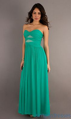Long Strapless Ruched Dress by Max and Cleo at SimplyDresses.com