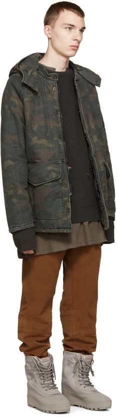 YEEZY Season 1 Brown & Green Camouflage Coat