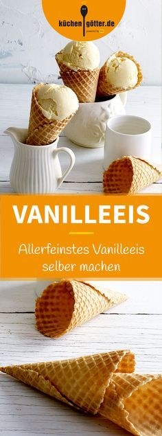 Allerfeinstes Vanilleeis EVERYBODY VANILLA – We reveal how to make the finest vanilla ice cream at home. Of course with real Tahitian vanilla pod. Ice Cream Freeze, Make Ice Cream, Homemade Ice Cream, Vanilla Ice Cream, Cream Cream, Parfait Desserts, Ice Cream Desserts, Frozen Custard, Frozen Yoghurt