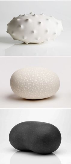 ceramics by frances lambe. I want to pick them up and roll them between my hands.... -