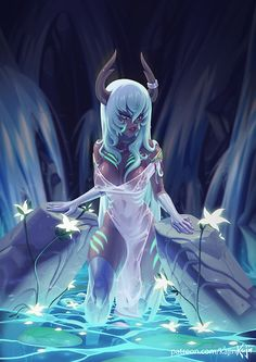 Taelus Commission by kajinman on DeviantArt Sucubus Anime, Anime Comics, Anime Art, Character Concept, Character Art, Concept Art, Anime Fantasy, Fantasy Girl, Another Anime