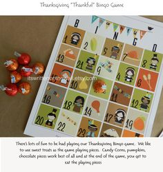 Play Thanksgiving Bingo-Keep the kids busy doing fun things while you get dinner ready!