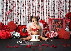 Valentine Cupid First Birthday Photo Shoot. Valentine Mini Session, Valentine Cupid, Valentine Picture, Valentines Day Photos, Valentines Day Birthday, Valentines Hearts, Valentine Nails, Valentine Ideas, Girl Birthday Themes