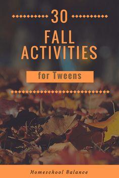 30 Fall Activities for Tweens