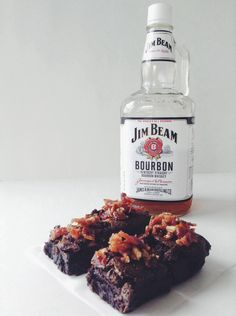 How to Bake Bourbon Brownies With Brown Sugar Bacon! Whaaaat?!?! : ) Who doesn't Love Bourbon, Chocolate & Bacon?!