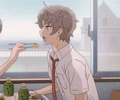 Uploaded by 🌺. Find images and videos about food, couple and anime girl on We Heart It - the app to get lost in what you love. Anime Couples Drawings, Anime Couples Manga, Cute Anime Couples, Otaku Anime, Anime Gifs, Anime Art, Cute Couple Wallpaper, Matching Profile Pictures, Handsome Anime Guys