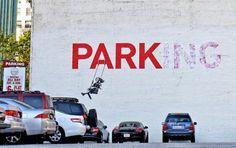 British street artist Bansky; where he places his artwork sends a message.