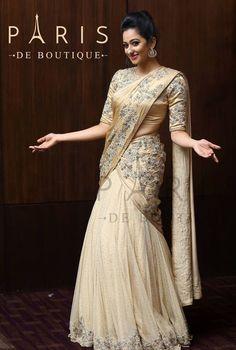 Christian Wedding Dress, Christian Bridal Saree, Half Saree Lehenga, Saree Dress, Sari Blouse, Anarkali, Kerala Saree Blouse Designs, Half Saree Designs, Indian Bridal Sarees