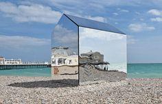 Creative Forager | Mirrored Beach Hut | Worthing