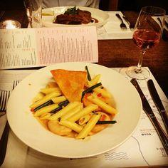 #pasta #dinner #wine Photo: @lisaxtina