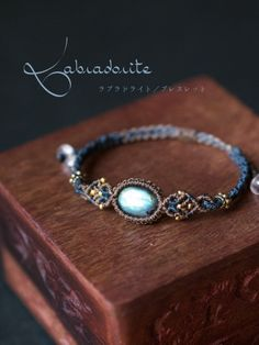 Macrame bracelet labradorite (African) STONES SPIRIT Stones Spirit Stone × macrame accessories shop