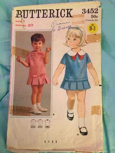19d2e5149485 Butterick 3452 Girl Dress Patterns