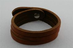 2 cut leather cuff - tan Leather Cuffs, Leather Bag, Leather Accessories, Cufflinks, Leather Bag Men, Leather Bags, Leather Products