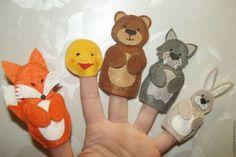 """Купить Пальчиковый театр из фетра """" Жили-были"""" - комбинированный, пальчиковый театр, пальчиковые игрушки"""