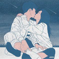 Art Love Couple, Love Couple Images, Cute Couple Drawings, Anime Love Couple, Love Art, Korean Illustration, Couple Illustration, Illustration Art, Romantic Artwork