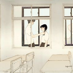 좋아(I like it) by 살구 on Grafolio Anime Couples, Cute Couples, Anime Drawing Styles, Cute Couple Art, Drawing Quotes, Couple Illustration, Sad Art, Manga Love, Korean Art