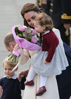 Princess Charlotte Smelling Flowers in Canada Pictures | POPSUGAR Celebrity